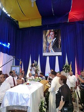 Carlos Andrés Pérez - Funeral of Carlos Andrés Pérez in Caracas (5 October 2011)