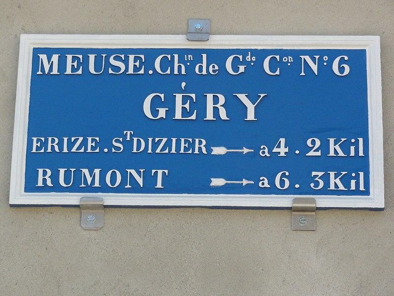 Géry (Meuse) plaque de cocher