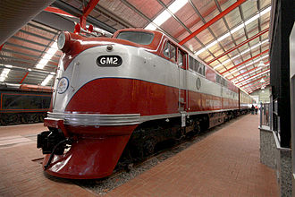 Commonwealth Railways - Preserved GM class at the National Railway Museum, Port Adelaide in July 2010