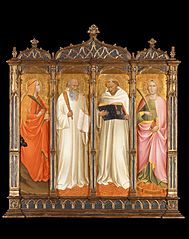 St. Mary Magdalene, St. Benedict, St. Bernard of Clairveaux and St. Catherine of Alexandria