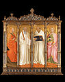 Gaddi, Agnolo - St. Mary Magdalene, St. Benedict, St. Bernard of Clairveaux and St. Catherine of Alexandria - Google Art Project.jpg