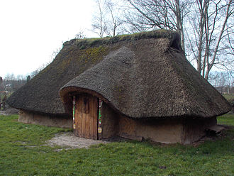 Menapii - Reconstruction of a Menapian dwelling at Destelbergen.