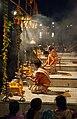Ganga aarti at Dasaswamedh Ghat, Varanasi 01.jpg