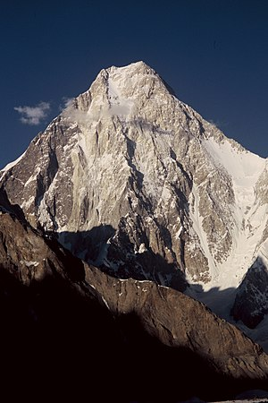 Gasherbrum IV - Gasherbrum IV from Baltoro Glacier