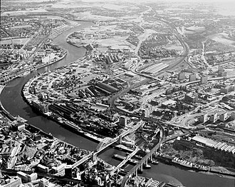 Felling, Tyne and Wear - Aerial photograph of Gateshead and Felling (1975)