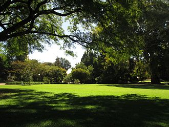 Campuses of the University of the Witwatersrand - The Gavin Reilly Green on West Campus.