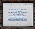 Gedenktafel Eichenallee 12 (Weste) Ulrich von Wilamowitz-Moellendorf.jpg