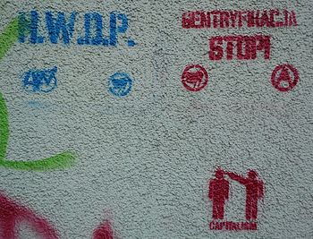 Stop of gentrification in Poznań - graffiti (P...
