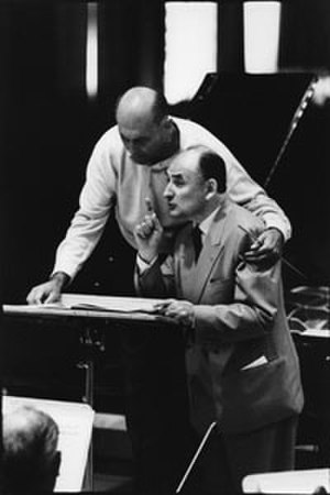 Georg Solti - Solti (l) with the pianist Nikita Magaloff