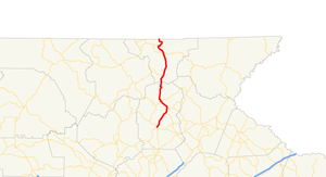 Georgia State Route 75 - Image: Georgia state route 75 map