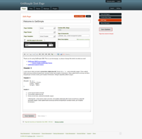 GetSimple Demo Install - Page Management.png