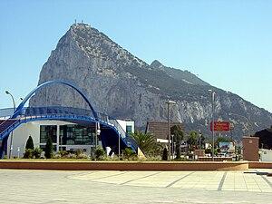La Línea de la Concepción - Gibraltar, as seen from La Línea.
