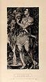Gideon, the Biblical judge, wrings the dewy fleece. Autotype Wellcome V0034411.jpg
