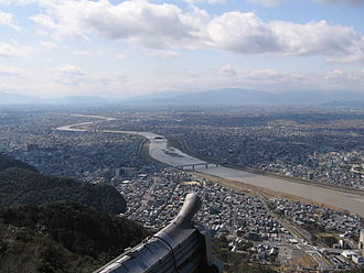 Nōbi Plain - View of the Nōbi Plain from Gifu Castle