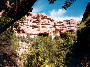 National Register of Historic Places listings in Catron County, New Mexico - Image: Gila Cliff Dwellings Natl Monument