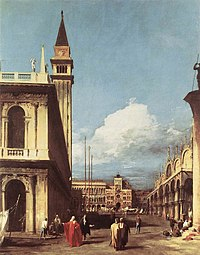 Giovanni Antonio Canal, il Canaletto - The Piazzetta, Looking toward the Clock Tower - WGA03872.jpg