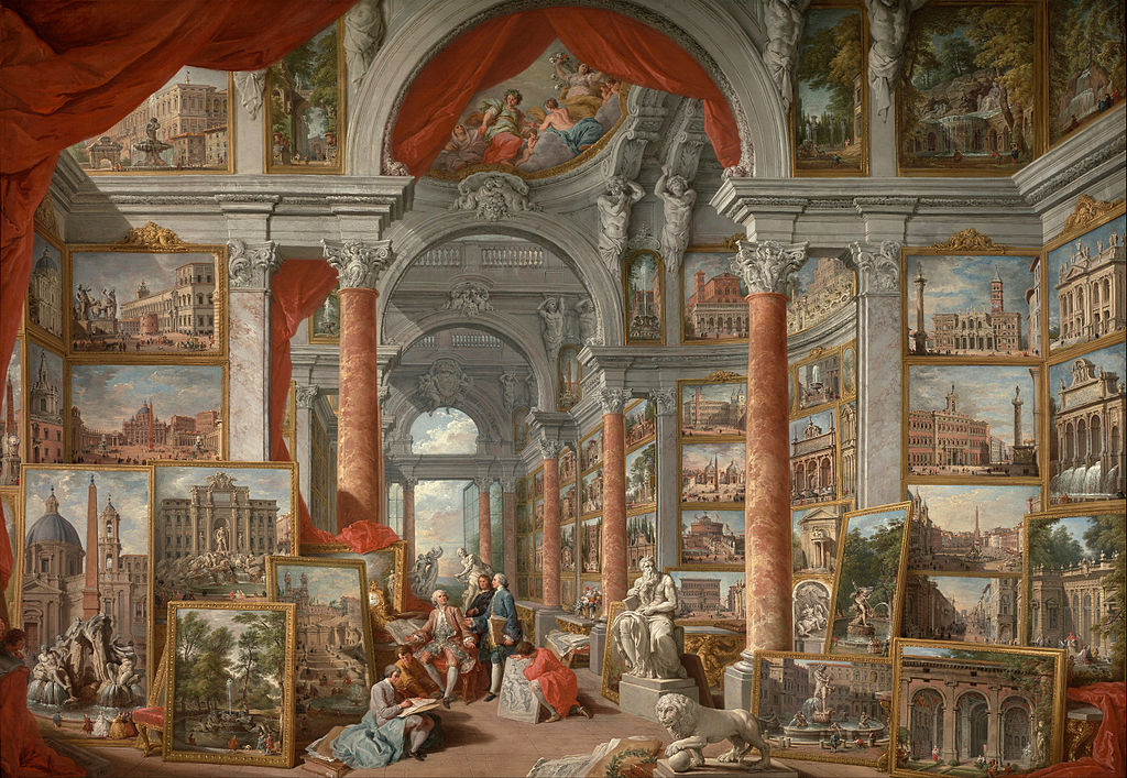 """Picture Gallery with Views of Modern Rome"" by Giovanni Paolo Panini"