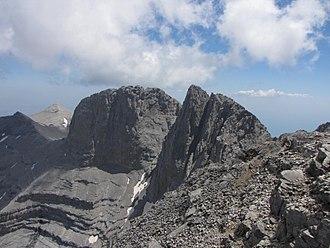 Christos Kakkalos - The summits of Mount Olympus. On the right is Mytikas (2918 m), on the left Stefani (2909 m)