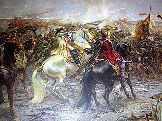 Franz Eisenhut - Battle of Zenta (detail, 1896)