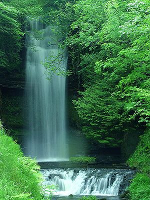 Connacht - Glencar Waterfall at Glencar Lough, County Leitrim