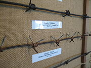 Two examples of Joseph Glidden's early barbed wire.
