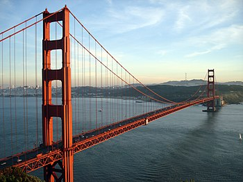 The Golden Gate Bridge and San Francisco, CA a...
