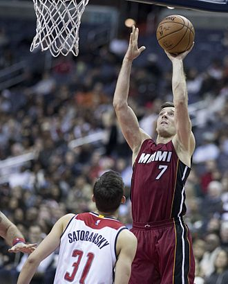 Goran Dragić - Dragić with the Heat in 2016.
