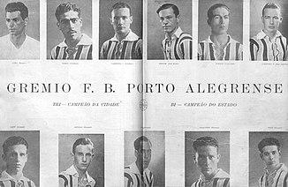 A Revista do Globo em 1932 exaltava o elenco do Grêmio tricampeão do  Citadino de Porto Alegre. 6fb527b98ce35