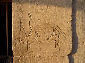 Graffiti - Ancient graffito at Kom Ombo Temple, Egypt