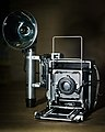 Graflex Speed Graphic with GE 5R infrared flashbulb.jpg