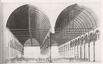 Palais de la Cité - The Grand'Salle of the Palace in the 16th century, by Androuet du Cerceau