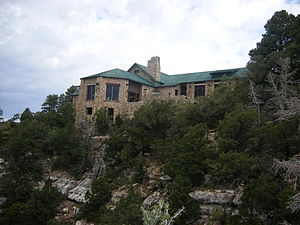 Grand Canyon Lodge - A view of the Main Lodge from below, in 2006