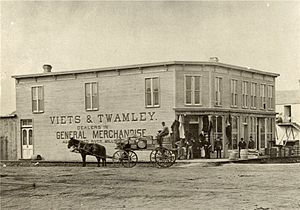 History of Grand Forks, North Dakota - Early store in Grand Forks