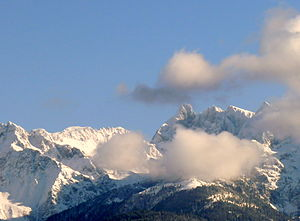 Belledonne - Clouds clear up and reveal Grand Pic de Belledonne