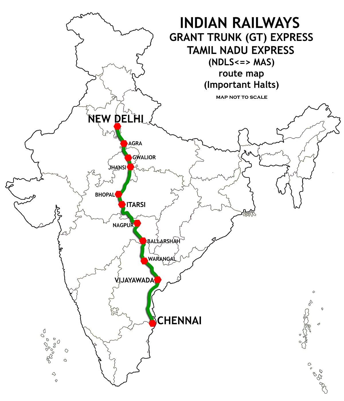 New Delhi–Chennai main line - Wikipedia