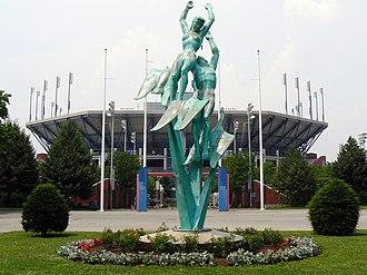 USTA Billie Jean King National Tennis Center - Bronze Statue at the USTA National Tennis Center.