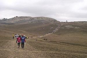 Sibebe - Hikers on the Sibebe Survivor walk
