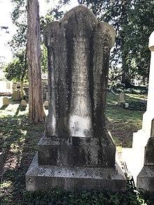 A gravestone.