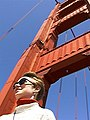 Great shot of Kerry with the orange Golden Gate towering above (2399742856).jpg