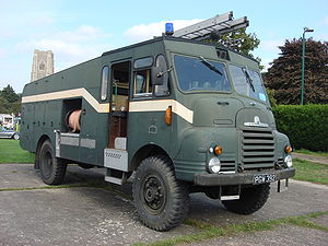 Auxiliary Fire Service - A post-war Bedford RLHZ Self Propelled Pump (Green Goddess).