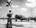 Greenville Army Airfield - Vultee BT-13 ready to taxi.jpg