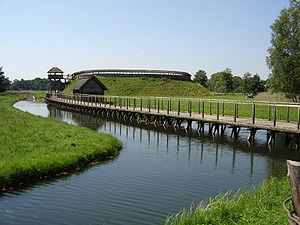 Gord (archaeology) - Reconstructed West Slavic fortified settlement (gord) in Groß Raden, Germany