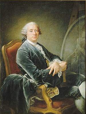 1777 in France - Guillaume Coustou the Younger painted by François-Hubert Drouais