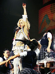 Stefani performing on the Harajuku Lovers Tour 2005.