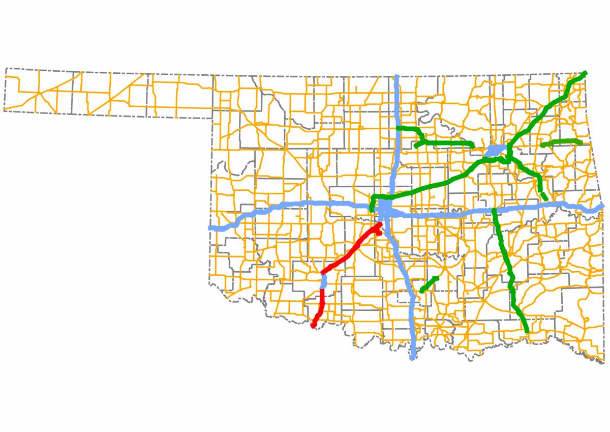 H E Bailey Turnpike Wikipedia - Okla map road