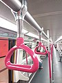 HK MTR train interior 紅色 red 手圜 rings December 2019 SSG.jpg