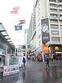 HK TST Harbour City square 5 flagpoles Star House banner Anti-FG rainy day Dec-2012.JPG