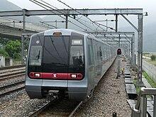 Легкорельсовый поезд по прямой