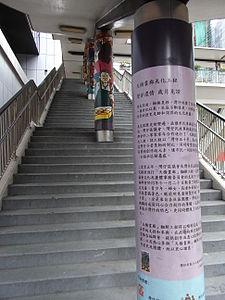 HK Wan Chai 金鐘道 Queensway footbridge stairs July-2012.JPG