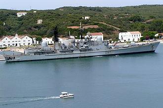 HMS Edinburgh (D97) - Edinburgh at Mahon, Minorca, July 2008.
